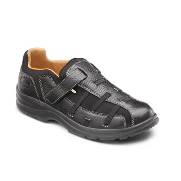 Dr. Comfort Women's Betty Leather/w Stretch Band Shoes