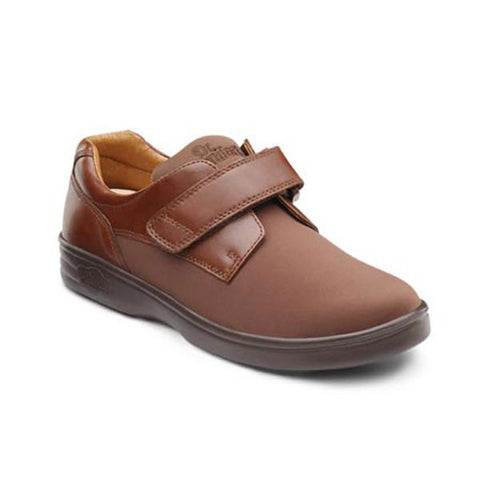 Dr. Comfort Women's Annie Stretch w/ Leather Trim Shoes - Acorn