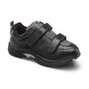 Dr. Comfort Women's Spirit X Double Velcro Shoes - Black