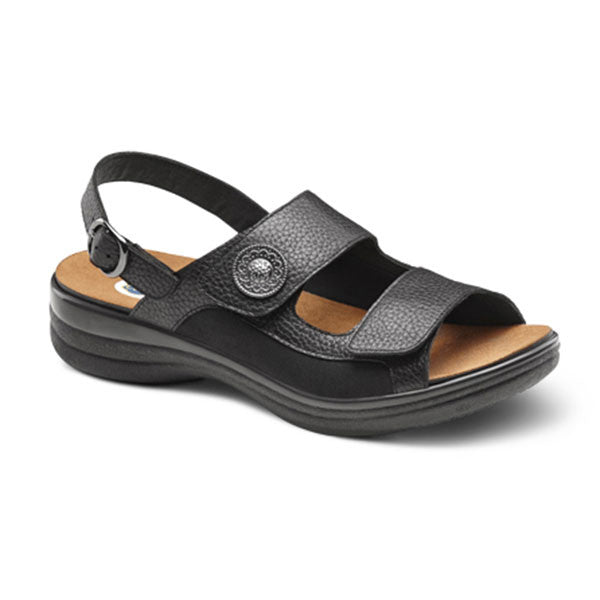 Dr. Comfort Women's Lana Stretchable Double Velcro Sandals