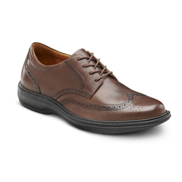 Dr. Comfort Men's Wing Dress Shoes - Chestnut