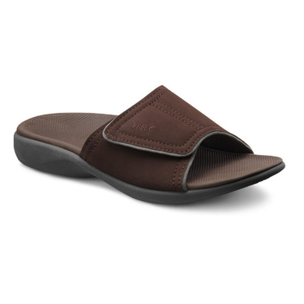 Dr. Comfort Men's Connor Slide Sandals - Chocolate