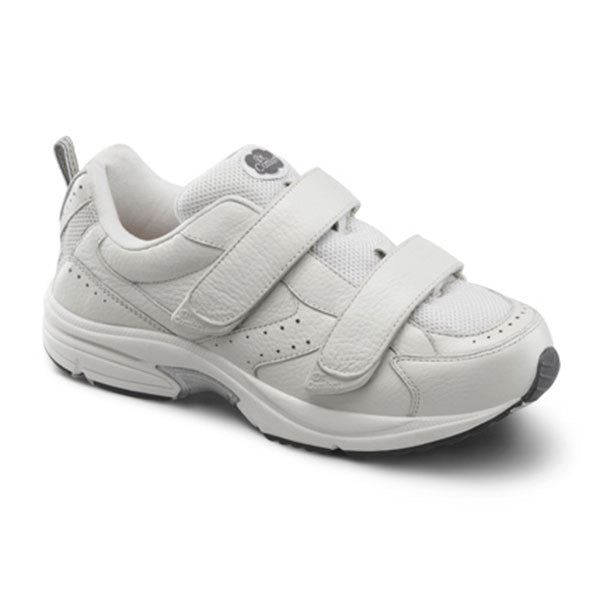 Dr. Comfort Men's Winner X w/Double Velcro Shoes - White