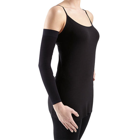 Medi Harmony Lymphedema Armsleeve w/Top Band - 30-40 mmHg - Black