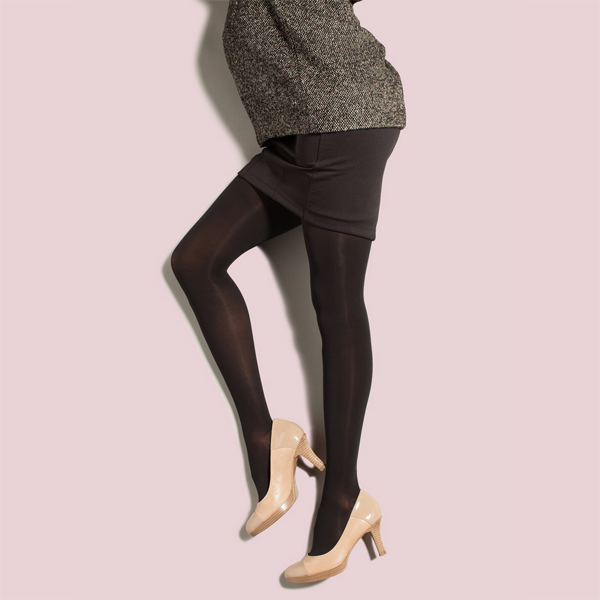 Preggers by Therafirm Opaque Maternity Pantyhose - 20-30 mmHg - Black