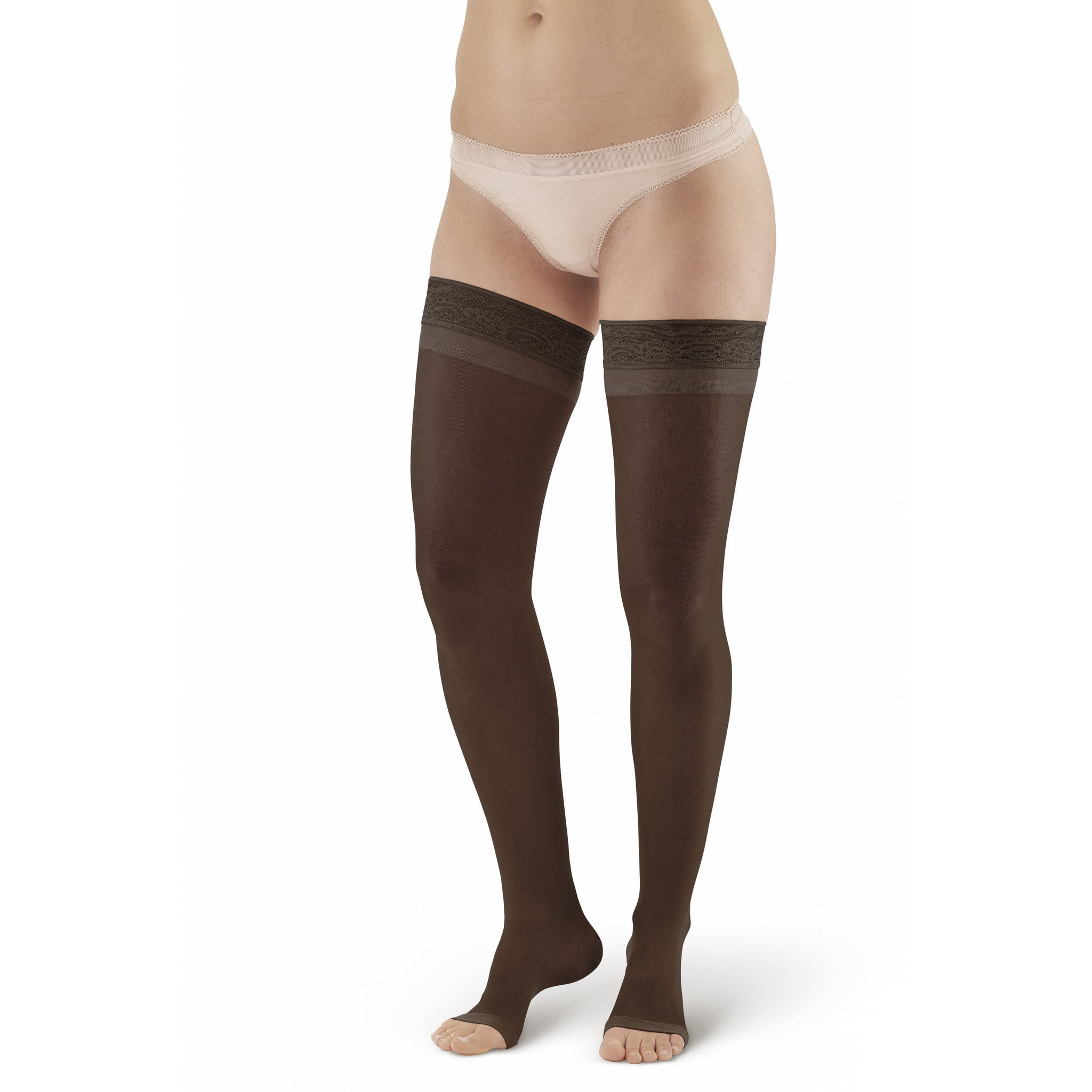 4f5bb26919e ... AW Style 48 Sheer Support Open Toe Thigh Highs w  Lace Band - 20- ...
