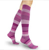 Sigvaris Compression Socks Pink Stripe Microfiber Women