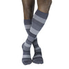 Sigvaris Compression Socks 182 Graphite Heather Stripe Men's 15-20 mmHg