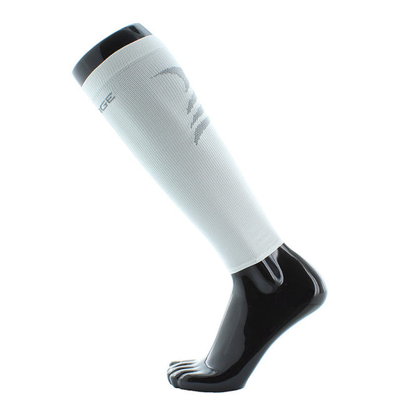 UPSURGE Sports Compression Calf Sleeves - 20-30 mmHg - White