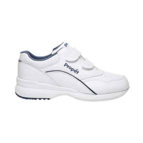 Propet Women's Tour Walker Strap Shoes - White/Blue