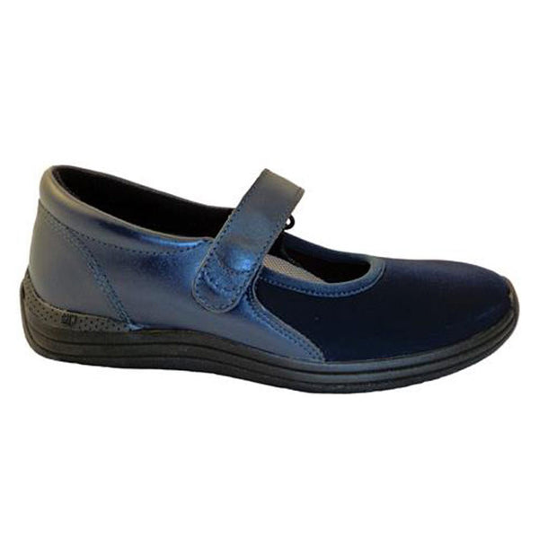Drew Women's Magnolia Active Shoes - Navy Nappa/Stretch