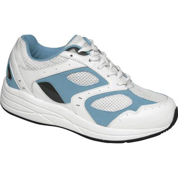Drew Women's Flare Athletic Shoes - White/Blue Leather/White Mesh