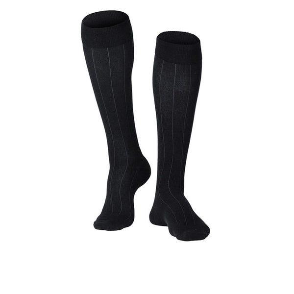 Touch Compression Men's Intelligent Rib Pattern Socks - 15-20 mmHg - Black