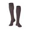 Touch Compression Men's Intelligent Rib Pattern Socks - 15-20 mmHg - Brown