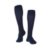 Touch Compression Men's Intelligent Rib Pattern Socks - 15-20 mmHg - Navy