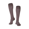 Touch Compression Men's Fine Checkered Pattern Socks - 15-20 mmHg - Brown