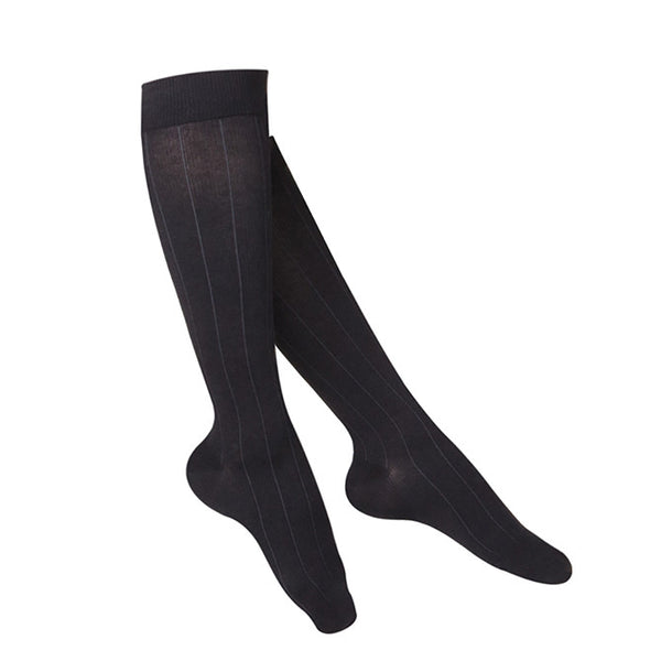 Touch Compression Women's Intelligent Rib Pattern Socks - 15-20 mmHg - Black