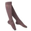 Touch Compression Women's Intelligent Rib Pattern Socks - 15-20 mmHg - Brown