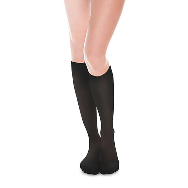 Therafirm EASE Sheer Closed Toe Knee Highs - 15-20 mmHg -  Black