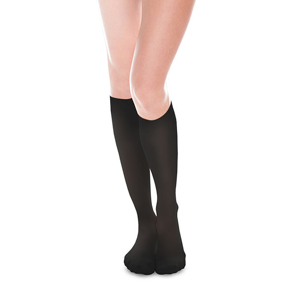 Therafirm EASE Sheer Closed Toe Knee Highs - 30-40 mmHg - Black