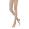 Therafirm EASE Sheer Open Toe Thigh Highs w/Silicone Band - 20-30 mmHg - Natural