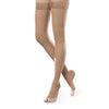 Therafirm EASE Sheer Open Toe Thigh Highs w/Silicone Band - 30-40 mmHg - Sand