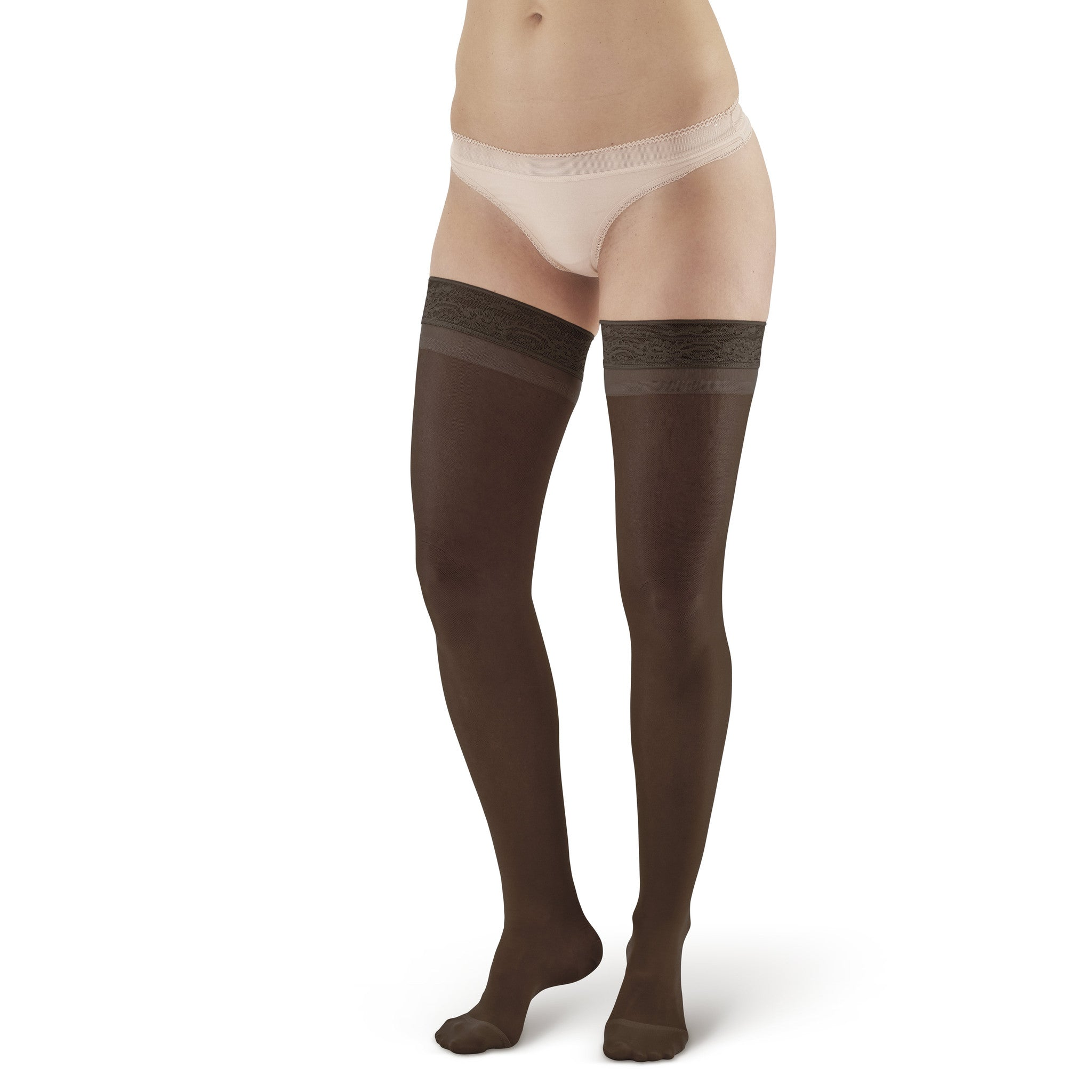 aac1e8ac0ac ... AW Style 4 Sheer Support Closed Toe Thigh Highs w  Lace Band - 15- ...
