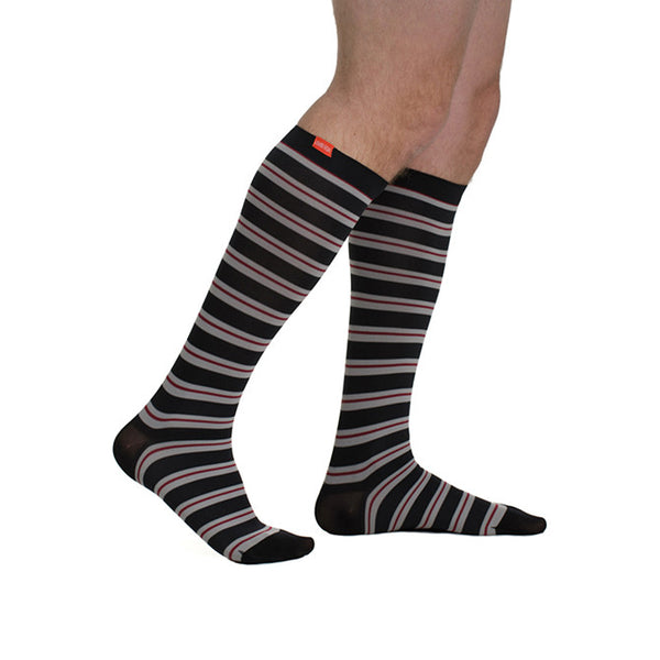 Vim & Vigr Men's Nylon Pattern Knee High Socks - 15-20 mmHg