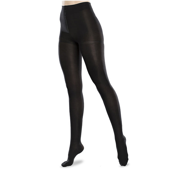 Therafirm EASE Microfiber Closed Toe Tights - 20-30 mmHg - Black