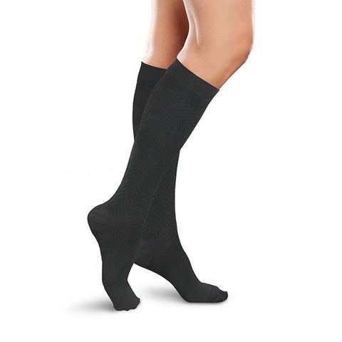 Therafirm Ease Women's Trouser Socks 15-20 mmHg - Black
