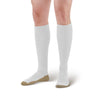 AW Style 630C Sports Performance Copper Sole Knee High Socks - 15-20 mmHg White