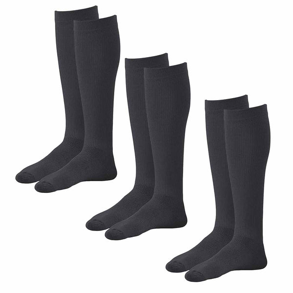 AW Style 632 Diabetic Knee High Socks - 8-15 mmHg (3 Pack)