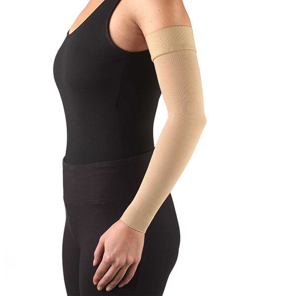 AW Style 7161 Lymphedema Armsleeve w/Silicone Top Band - 20-30 mmHg