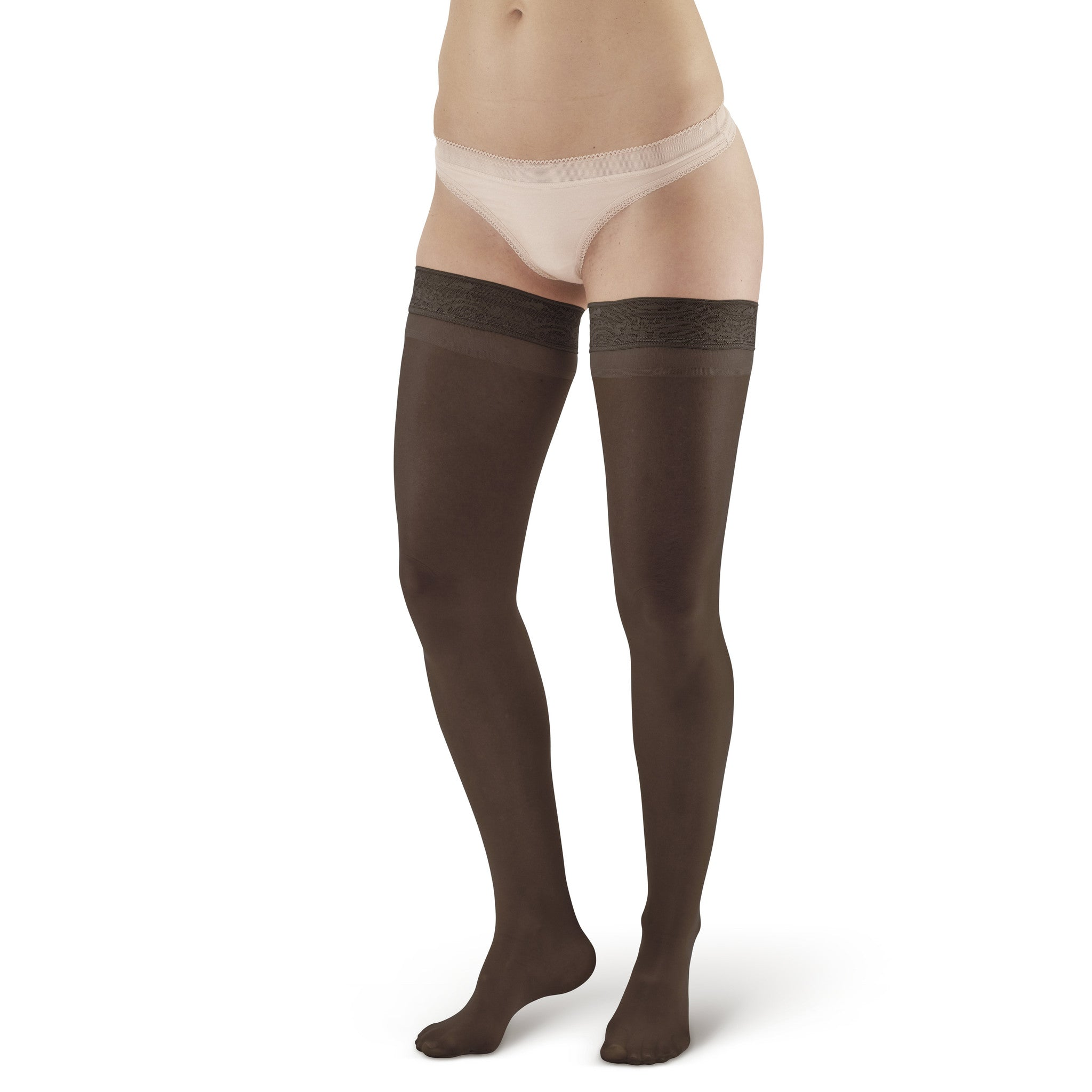 b90a0106d3 AW Style 74 Soft Sheer Thigh Highs w/ Lace Band - 8-15 mmHg – Ames ...