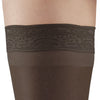 AW Style 74 Soft Sheer Thigh Highs w/Band - 8-15 mmHg (3-Pack) Black Band