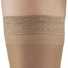 AW Style 74 Soft Sheer Thigh Highs w/ Lace Band - 8-15 mmHg - Band