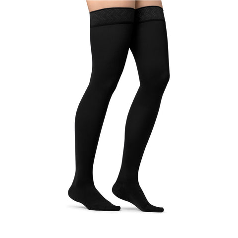 Jobst Opaque Closed Toe Maternity Thigh Highs w/Top Band - 15-20 mmHg