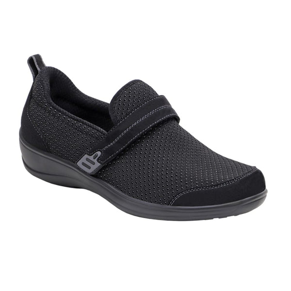 Orthofeet Women's Quincy Slip-On Shoes Black