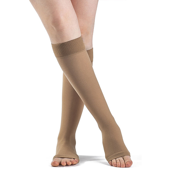 4d18cd752f1 Sigvaris 862 Select Comfort Open Toe Knee Highs w GripTop - 20-30 mmHg