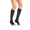 Jobst Opaque Open Toe Maternity Knee Highs - 20-30 mmHg Antracite