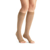 Jobst Opaque Open Toe Maternity Knee Highs - 20-30 mmHg Caramel
