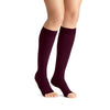 Jobst Opaque Open Toe Maternity Knee Highs - 20-30 mmHg Cranberry