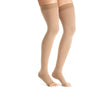 Jobst Opaque Open Toe Maternity Thigh Highs w/Top Band - 20-30 mmHg Caramel