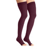 Jobst Opaque Open Toe Maternity Thigh Highs w/Top Band - 20-30 mmHg Cranberry