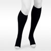 Juzo Assist 3611 Open Toe Knee Highs - 20-30 mmHg Black