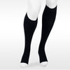 Juzo Assist 3611 Open Toe Knee Highs w/Silicone Band - 20-30 mmHg Black