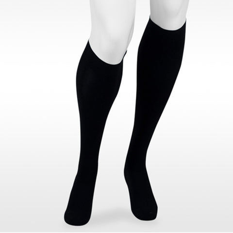 Juzo Assist 3612 Closed Toe Knee Highs  w/Silicone Band - 30-40 mmHg Black