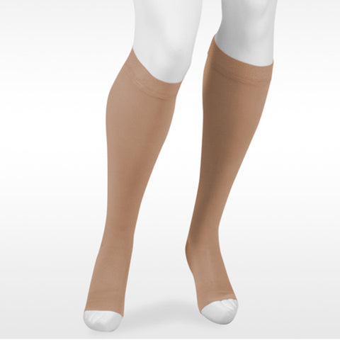Juzo Assist 3612 Open Toe Knee Highs w/Silicone Band - 30-40 mmHg Beige