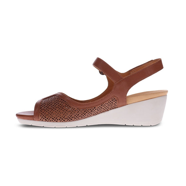 Revere Woman's Kaya Backstrap Wedge Sandals