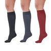 AW Women's Microfiber Trouser Socks - 15-20 mmHg (Variety Pack) - Black/Charcoal/Maroon Diamond